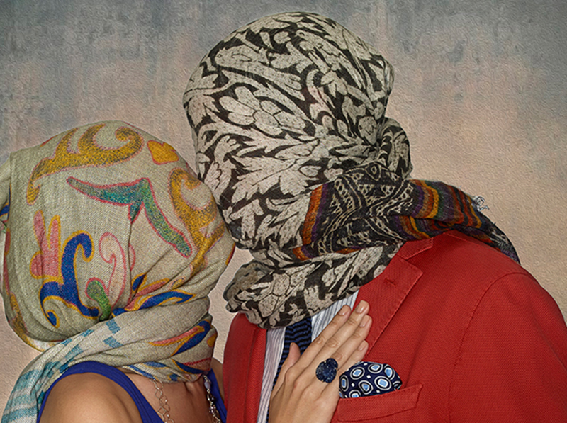Scarf Heads Magritte M Penner Photo