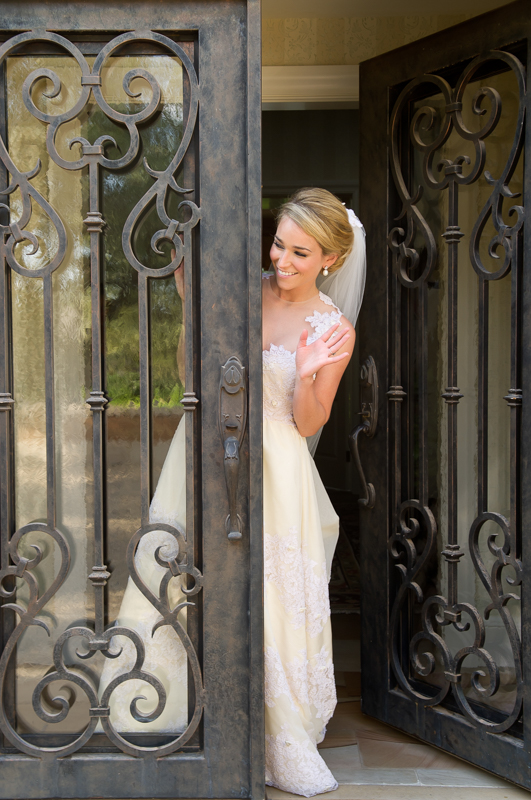 Bride Peaking Out