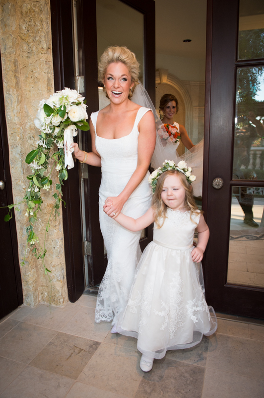 Wedding photographer near me in Odessa Bride and Flower Girl